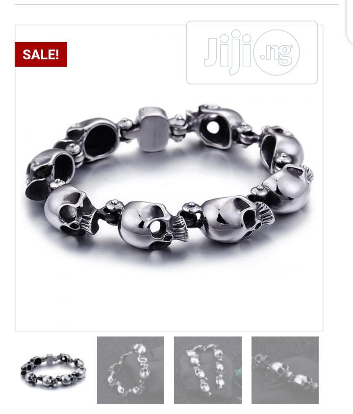 316L Gothic Stainless Steel Bracelet | Jewelry for sale in Victoria Island, Lagos State, Nigeria