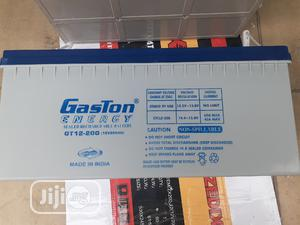 12v 200ah Gaston Battery Available in Now | Solar Energy for sale in Lagos State, Ojo
