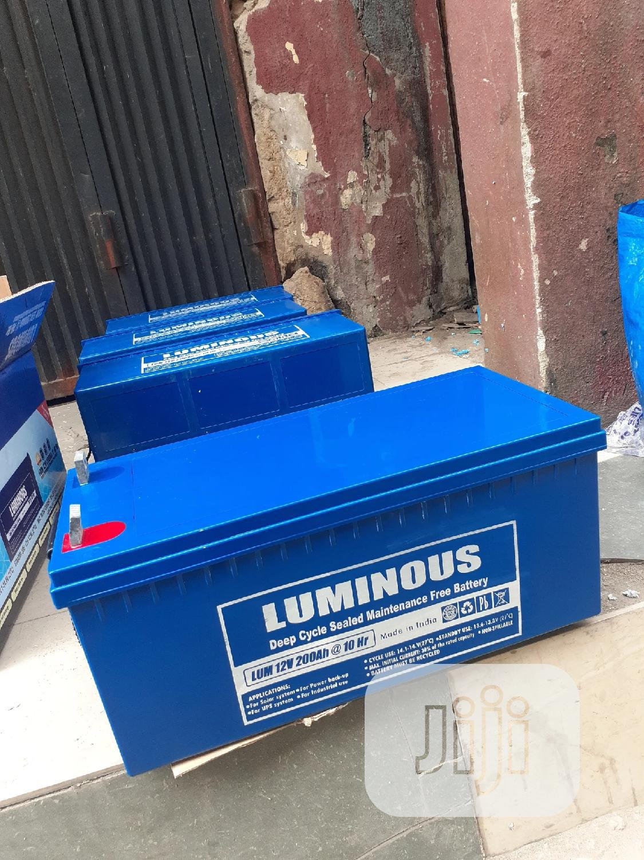 12v 200ah Luminous Battery Available Now