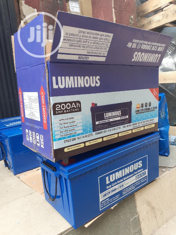 12v 200ah Luminous Battery Available