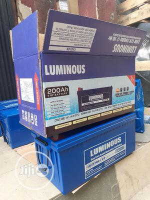 12v 200ah Luminous Battery Available | Solar Energy for sale in Lagos State, Ojo