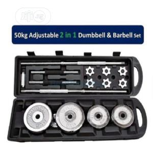 50kg Dumbell Set With Case | Sports Equipment for sale in Lagos State, Lekki
