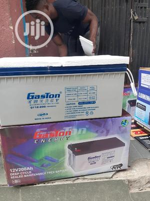 12v 200ah Gaston Battery Available Now | Solar Energy for sale in Lagos State, Ojo