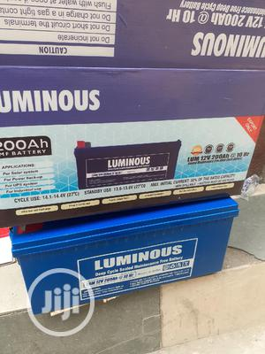 12v 200ah Luminous Battery Available Now In | Solar Energy for sale in Lagos State, Ojo