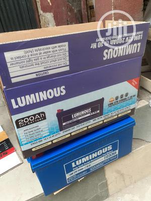 12v 200ah Luminous Battery Available Now | Solar Energy for sale in Lagos State, Ojo