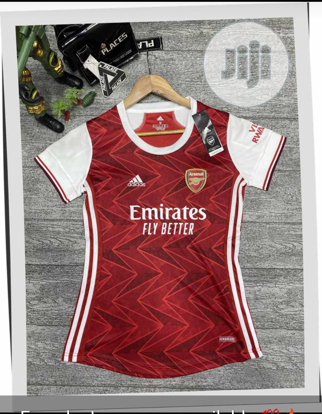 Arsenal Official 20/21 Female Home Jersey | Clothing for sale in Surulere, Lagos State, Nigeria