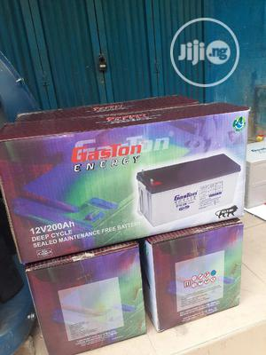 12v 200ah Gaston Battery Available Now In | Solar Energy for sale in Lagos State, Ojo
