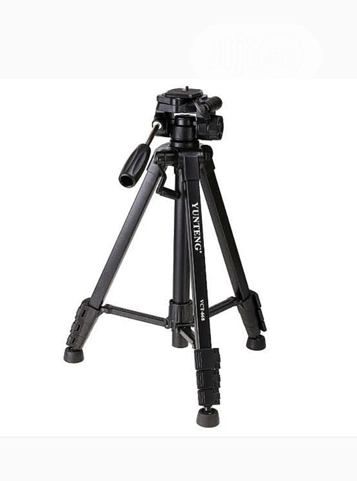 Camera Tripod With 3-way Head +Bluetooth Remote+Phone Holder | Arts & Crafts for sale in Ojo, Lagos State, Nigeria
