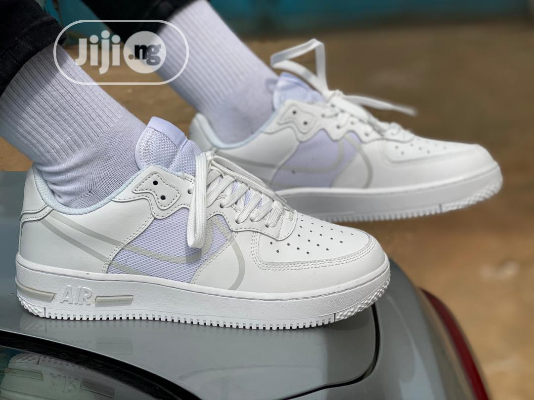 "Nike Airforce 1 React ""Triple White"" 
