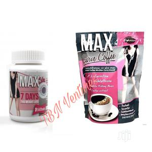 Max Slim 7 Days Weight Loss 30caps Max Curve Coffee   Vitamins & Supplements for sale in Lagos State, Amuwo-Odofin