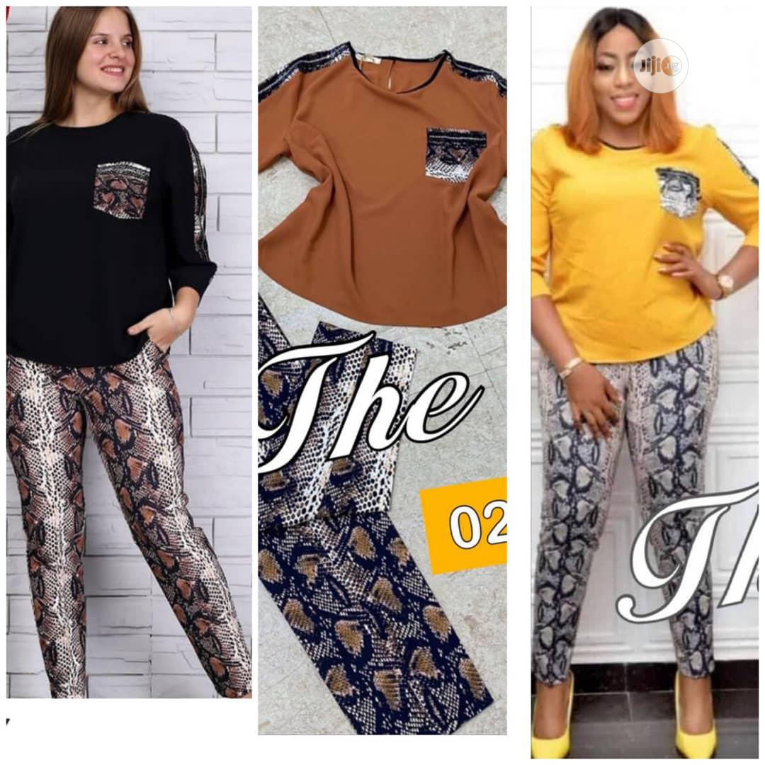 Quality Female Top and Trouser