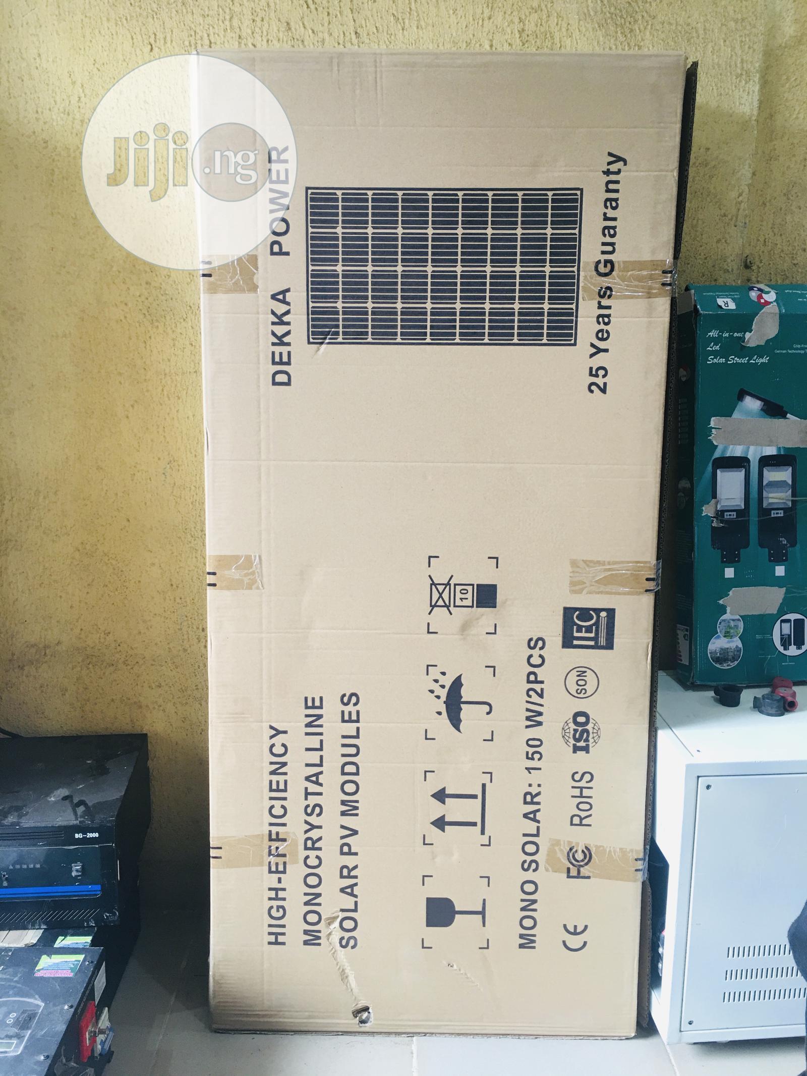 Archive: 150watts Dekka Solar Panel Mono