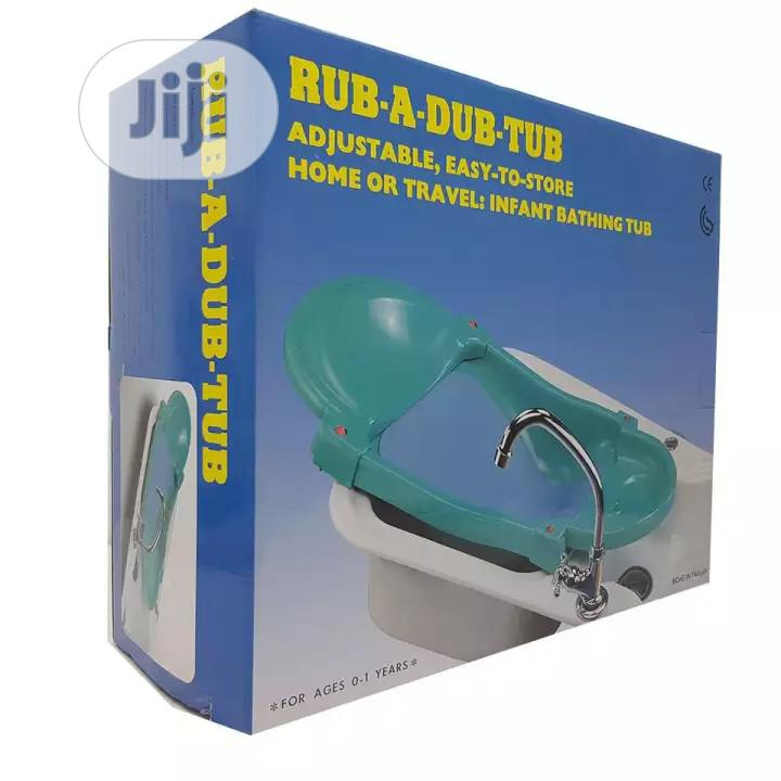 2 in 1 Rub a Dub Foldable Bathing Tub (Baby Bather) | Baby & Child Care for sale in Ojo, Lagos State, Nigeria