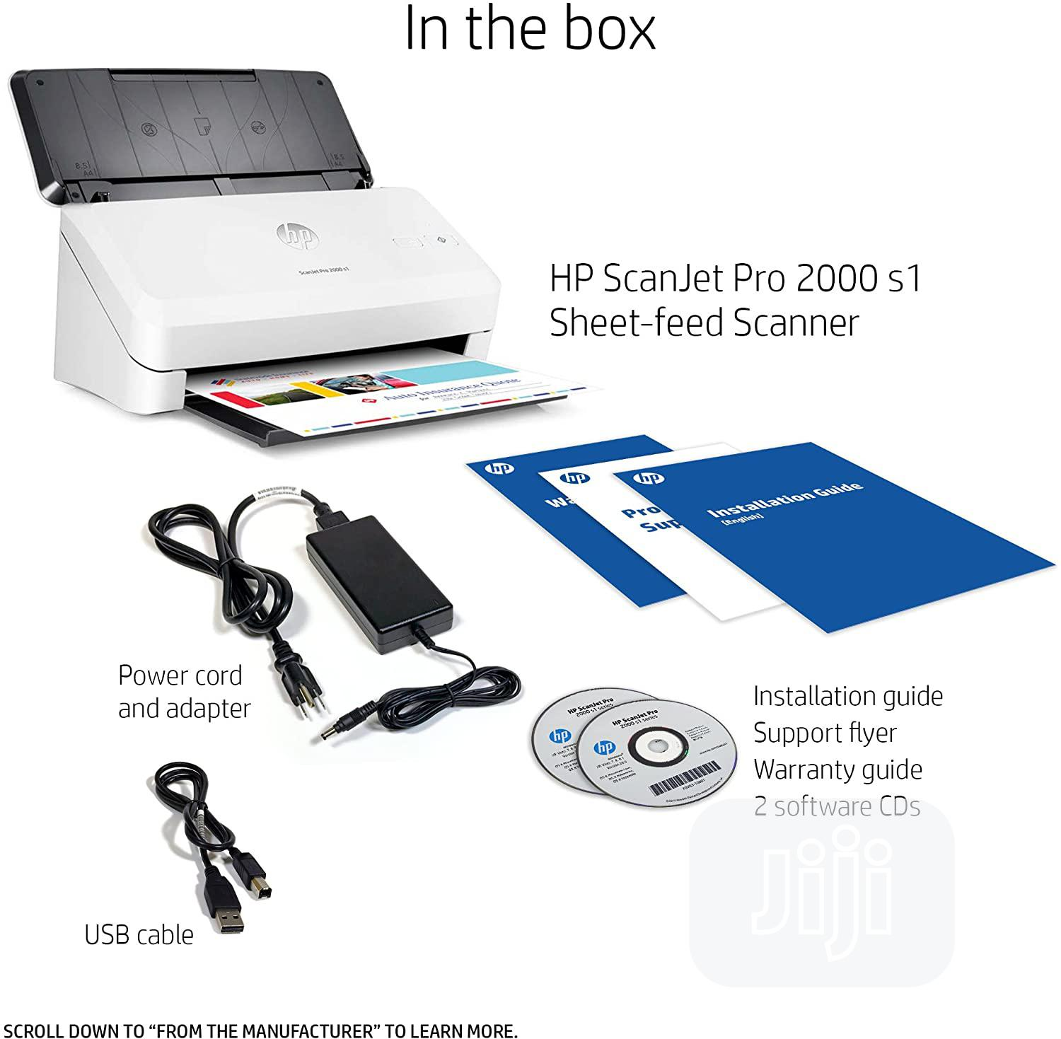 HP Scanjet Pro 2000 S1 Sheet-feed OCR Scanner | Printers & Scanners for sale in Ikeja, Lagos State, Nigeria