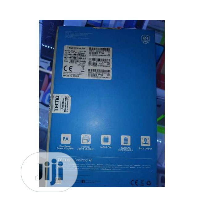 New Tecno DroiPad 7D 16 GB   Tablets for sale in Alimosho, Lagos State, Nigeria