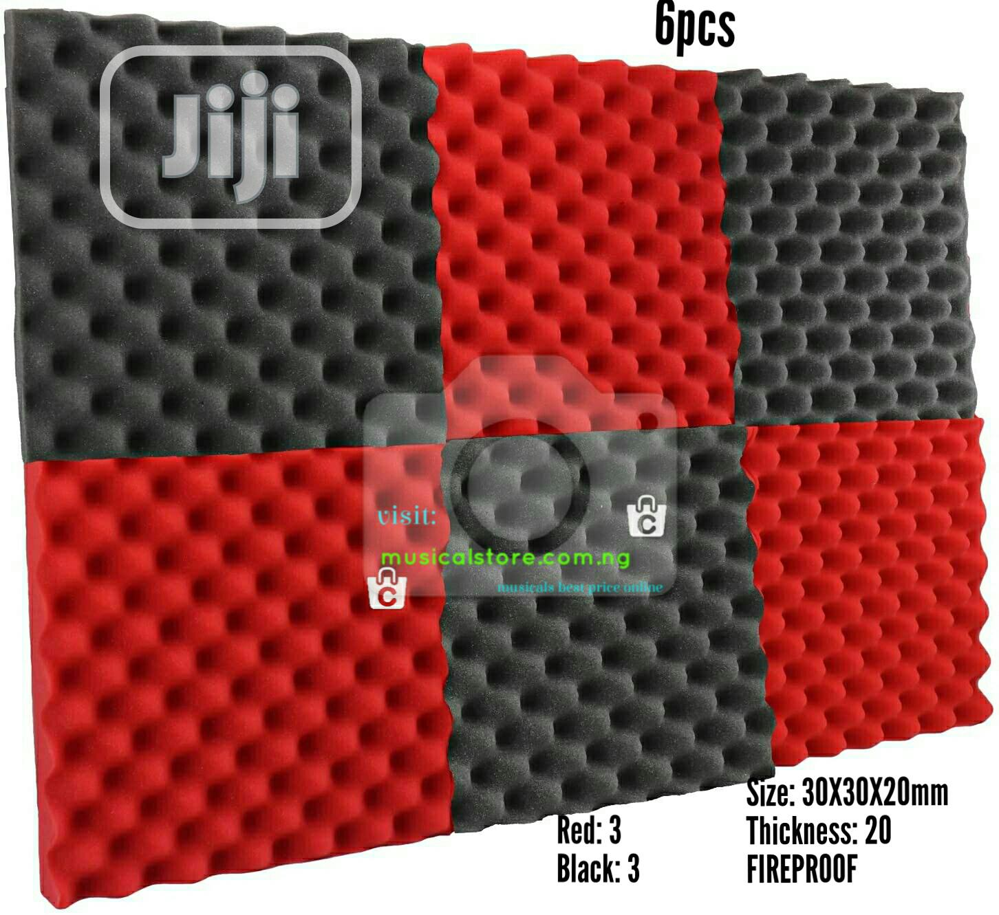 Acoustic Foam. Soundproofing 6pcs