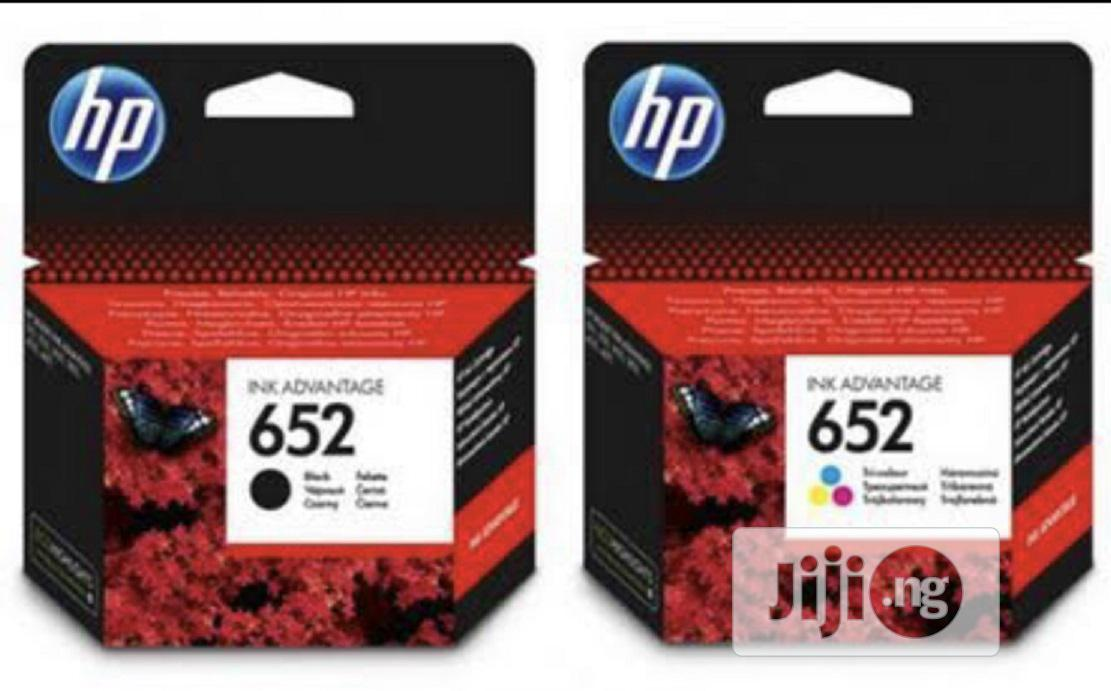 HP 652 Black And Tricolor Genuine Cartridge