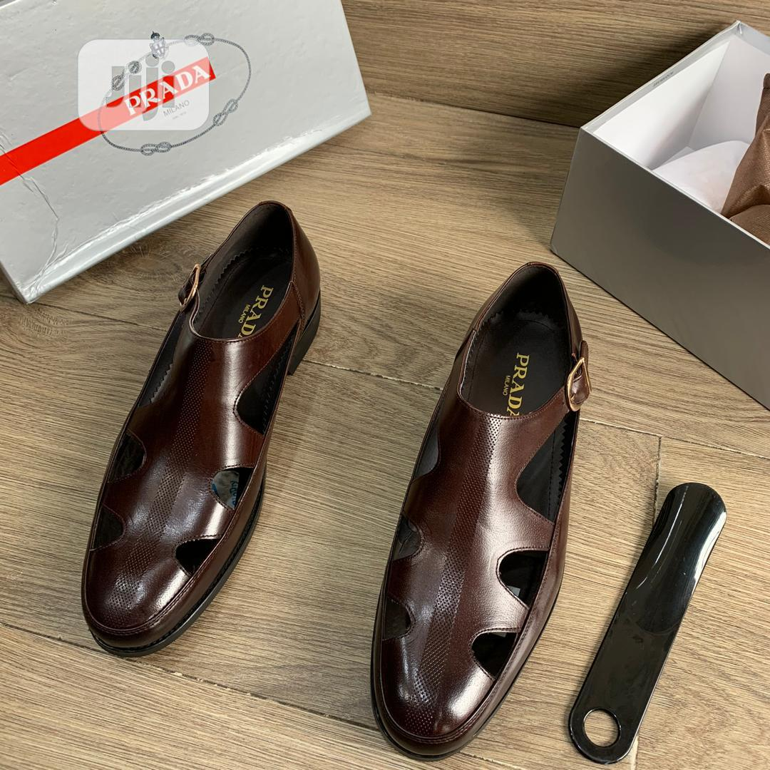 New Quality Men Brown Leather Shoes   Shoes for sale in Isolo, Lagos State, Nigeria