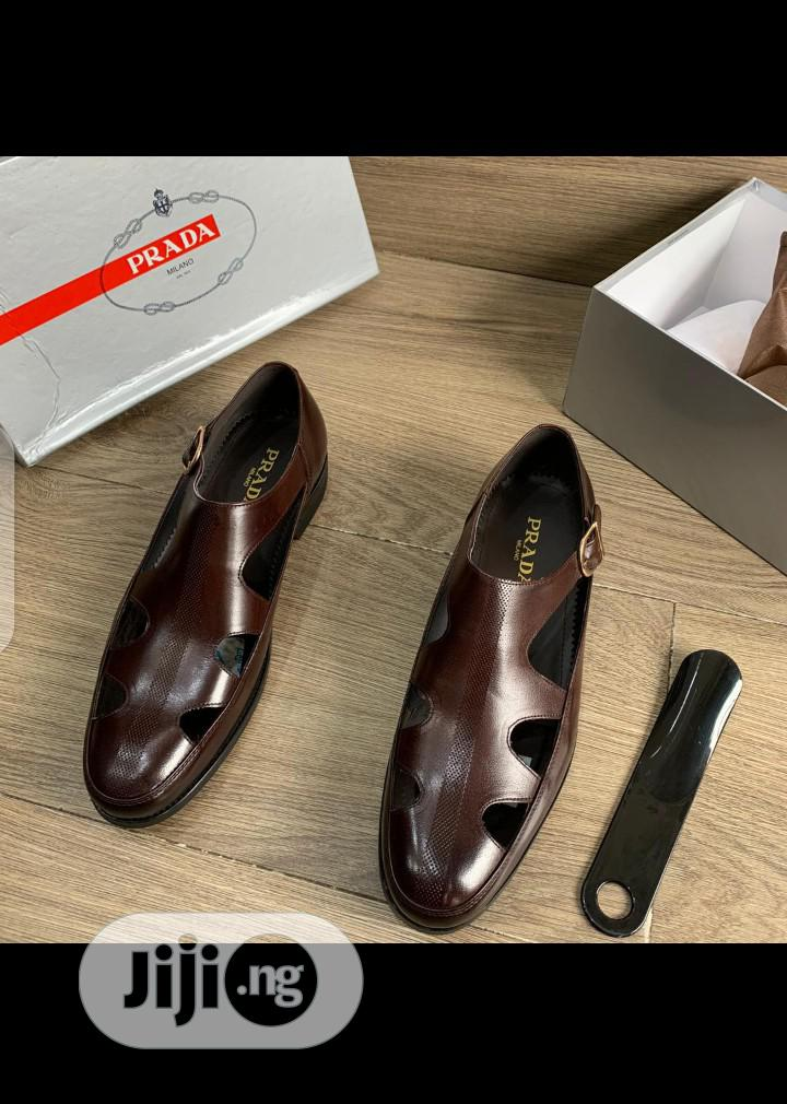 New Quality Men Brown Leather Shoes