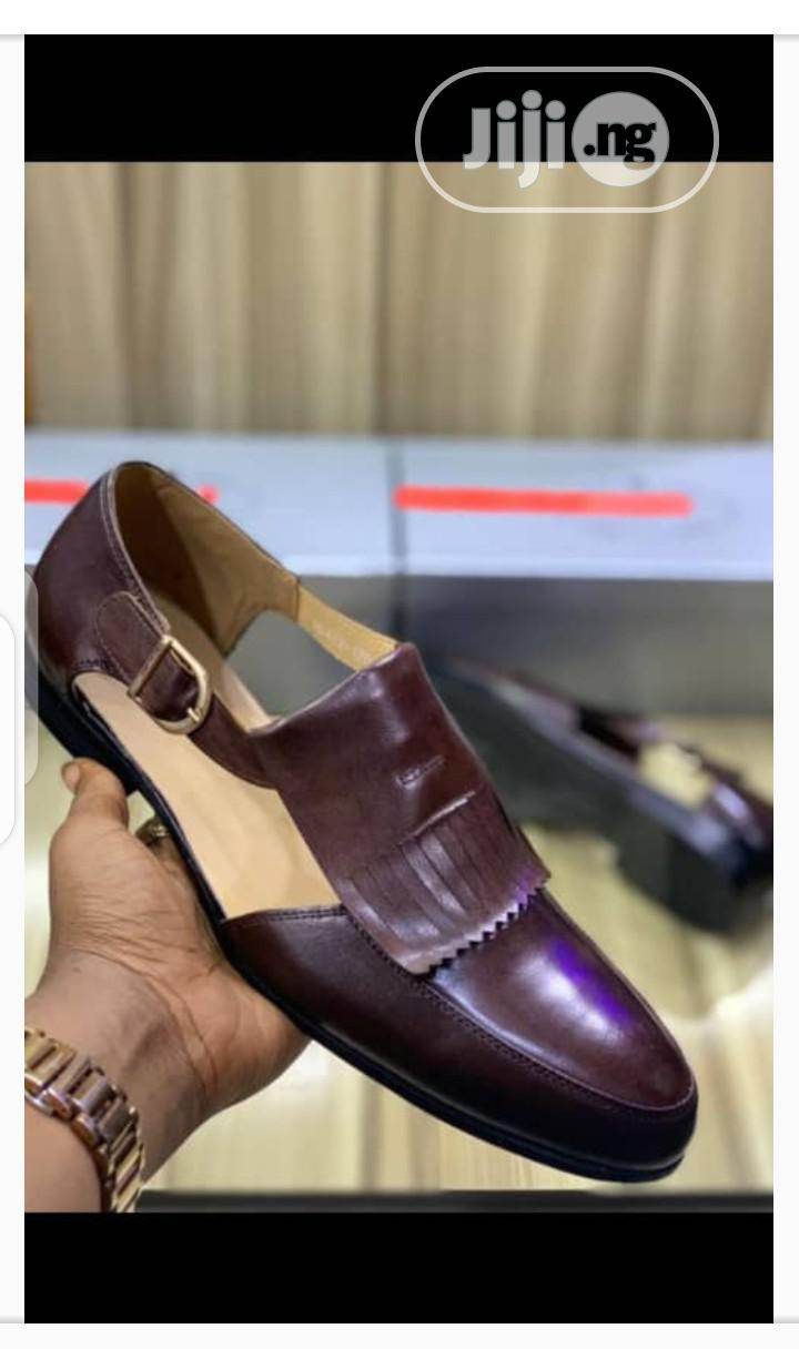 New Quality Men Brown Leather Sandals Shoes | Shoes for sale in Isolo, Lagos State, Nigeria