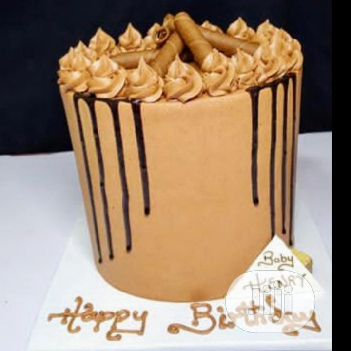 High Sumptuous Marble Birthday Cake