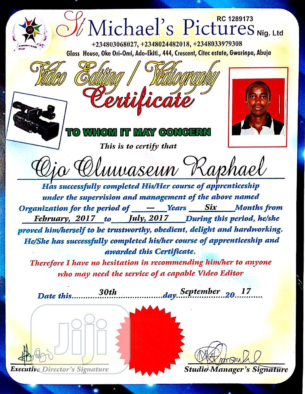 Profession Video Editor | Arts & Entertainment CVs for sale in Ado Ekiti, Ekiti State, Nigeria