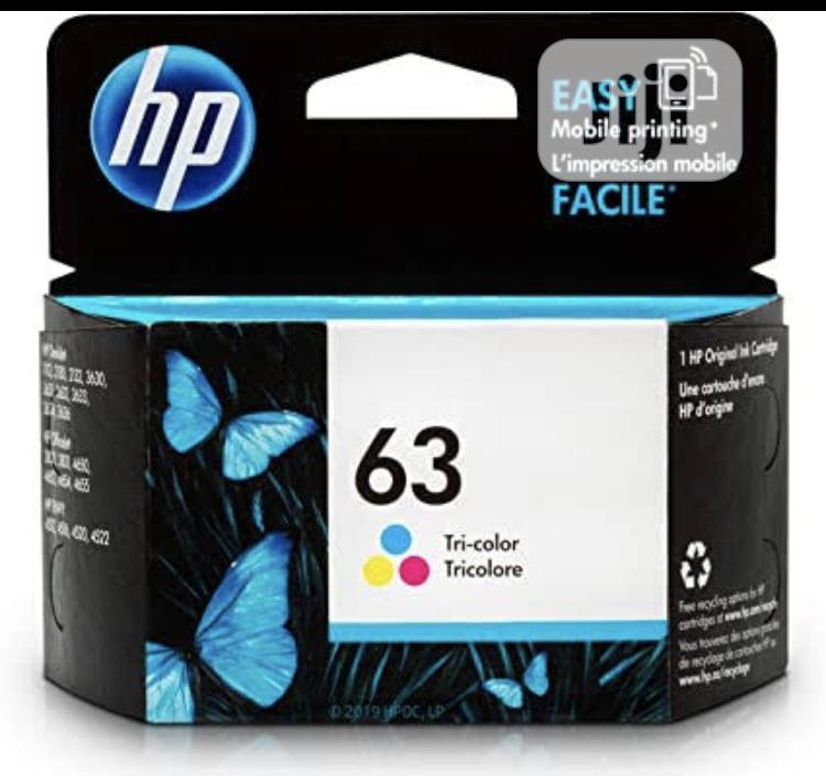 Hp 63 Tricolor Genuine Ink Cartridge