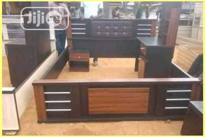 Wooden Bed Frame And Bed Side | Furniture for sale in Lagos State, Agege