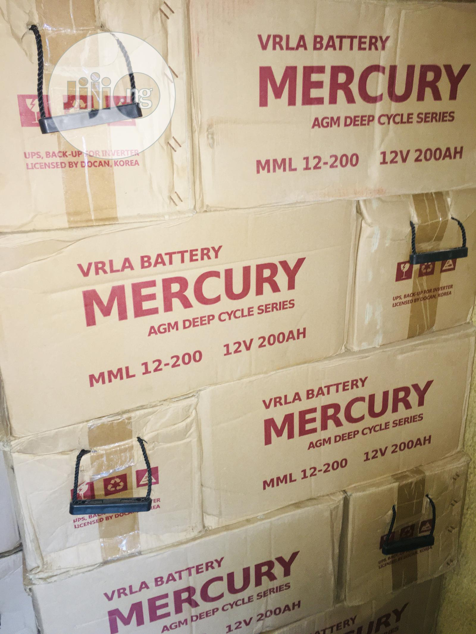 200ah 12v Mercury Battery Available With 1yr Warranty