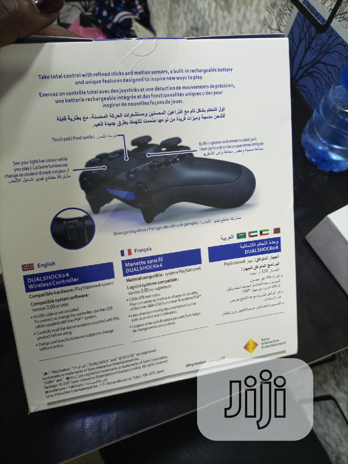 Sony PS4 Controller Pad Play Station 4 Dual Shock -black | Video Game Consoles for sale in Ikeja, Lagos State, Nigeria