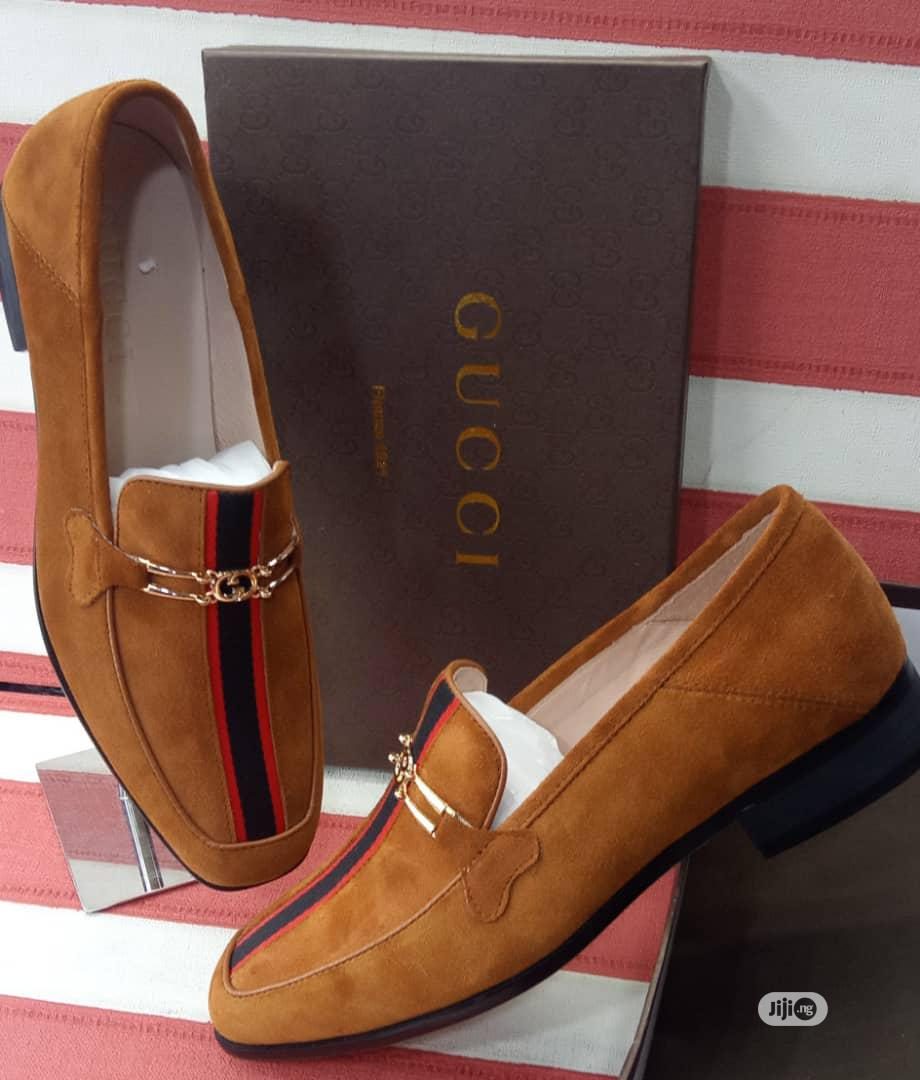 Gucci Brown Leather Shoes