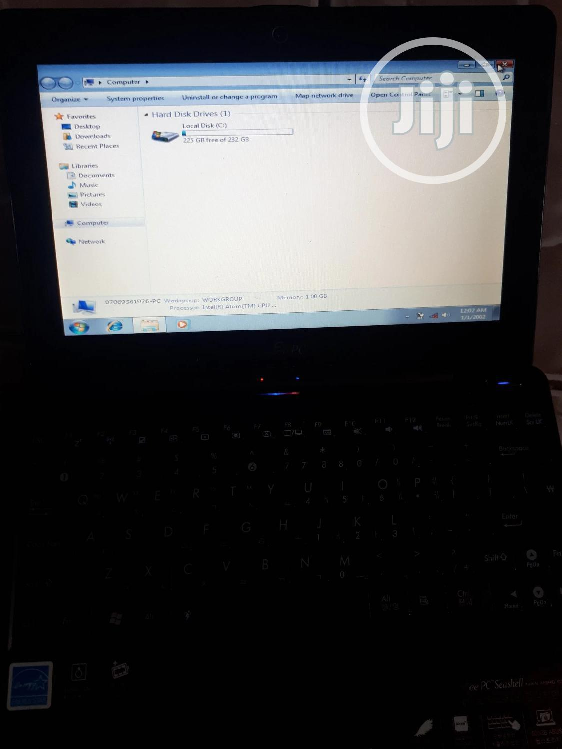 Laptop Asus Eee PC 1008P 2GB Intel HDD 256GB | Laptops & Computers for sale in Kubwa, Abuja (FCT) State, Nigeria