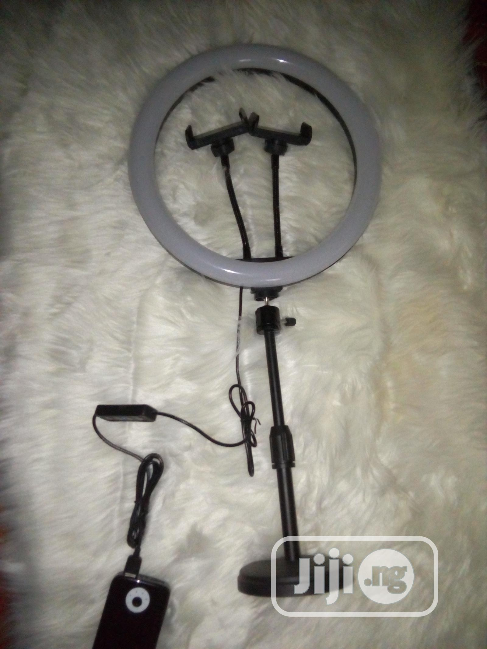 12 Inches Ringlight With Table Top Tripod and 2 Phone Holder