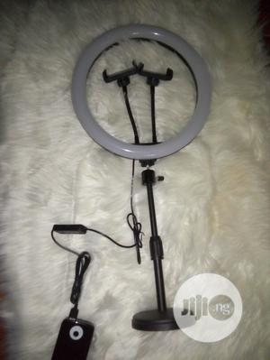 12 Inches Ringlight With Table Top Tripod and 2 Phone Holder   Accessories & Supplies for Electronics for sale in Oyo State, Ibadan