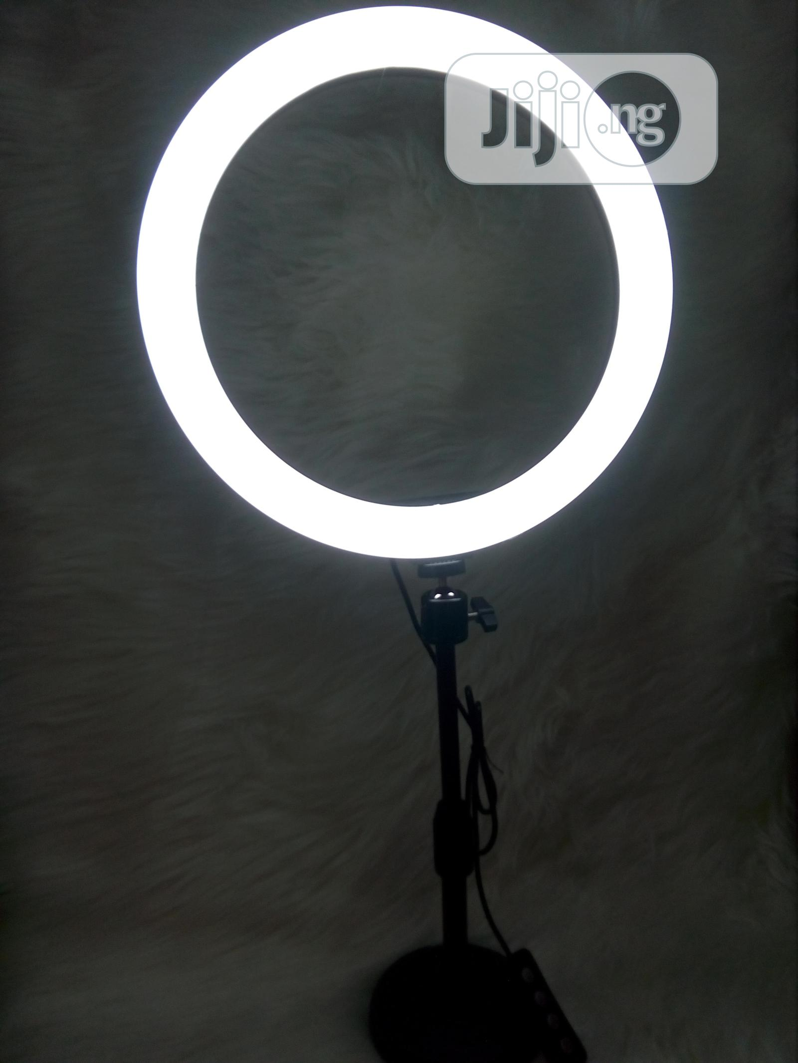 12 Inches Ringlight With Table Top Tripod and 2 Phone Holder   Accessories & Supplies for Electronics for sale in Ibadan, Oyo State, Nigeria