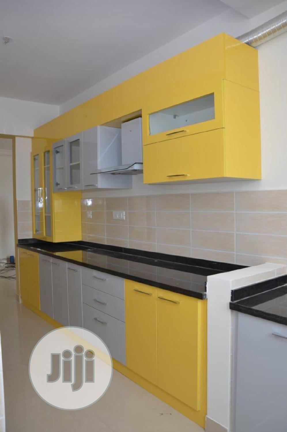 Archive: Kitchen Cabinet In Yellow, Grey And Black
