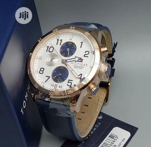 Hugh Quality Tommy Hilfiger Leather Watch | Watches for sale in Oyo State, Ibadan