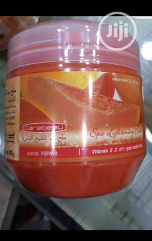 Carebeau Papaya Spa Lightening Salt Scrub 700g Thailand | Bath & Body for sale in Lagos State, Ojo