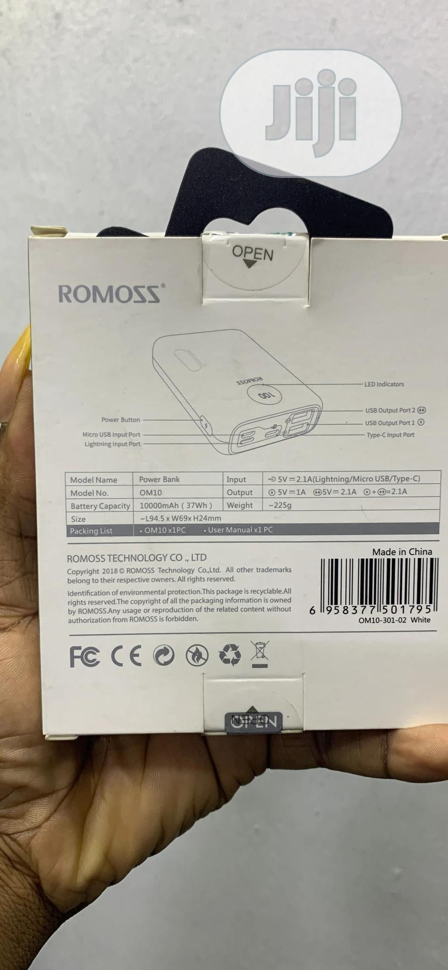 Romoss Om10 Powerbank | Accessories for Mobile Phones & Tablets for sale in Ikeja, Lagos State, Nigeria