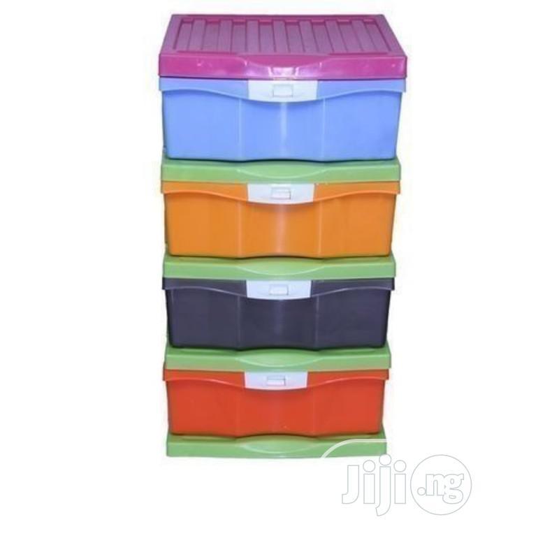 4-layer Plastic Storage Baby Wardrobe - Big Size .