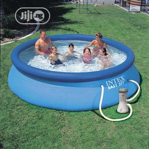 Intex 28132 Easy Set Above Ground Inflatable Pool Round 12ft   Sports Equipment for sale in Lagos State, Ifako-Ijaiye