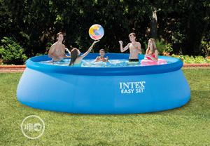 Intex 26166 Easyset Above Ground Inflatable Pool Round 15ft   Sports Equipment for sale in Lagos State, Ifako-Ijaiye