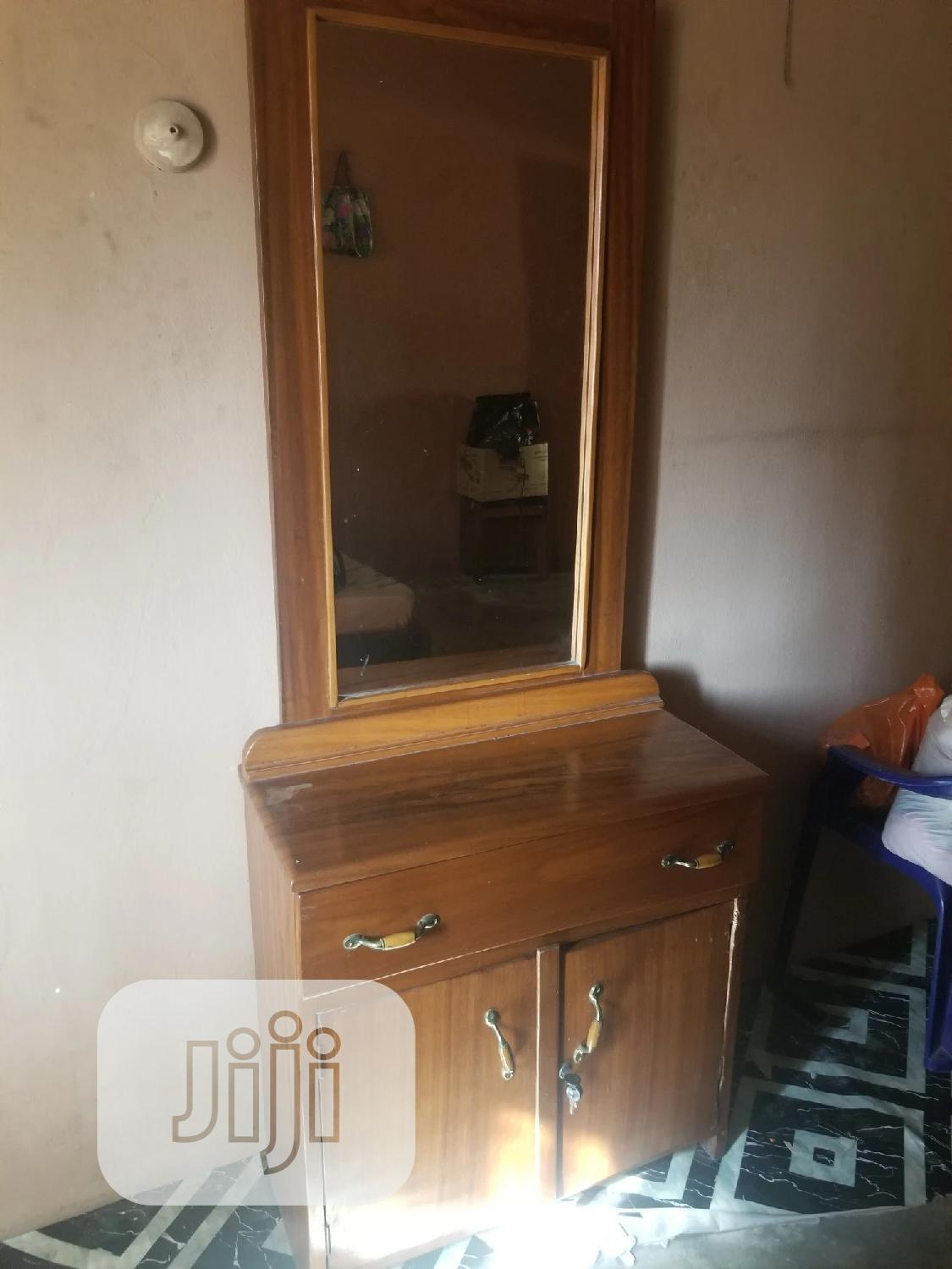 Mahogany Brown Wood Make Up Dresser Drawer | Furniture for sale in Isolo, Lagos State, Nigeria