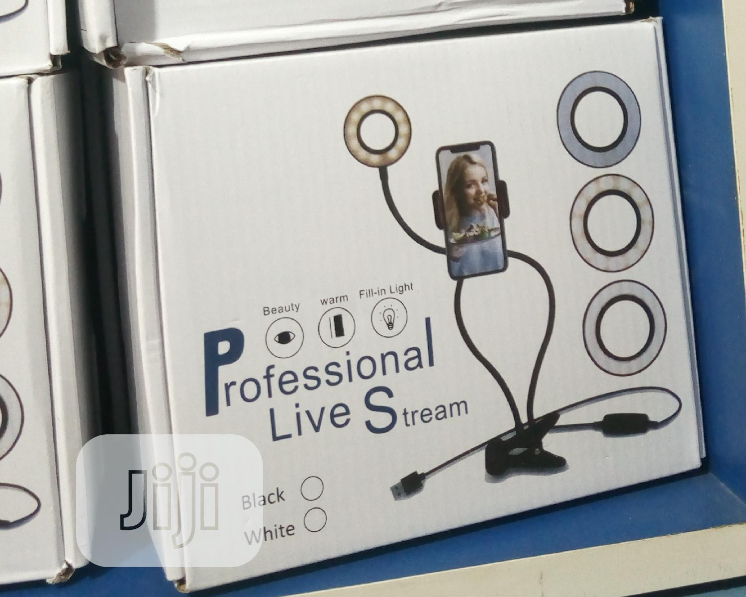 Professional Live Stream Ring Light | Accessories for Mobile Phones & Tablets for sale in Wuse 2, Abuja (FCT) State, Nigeria