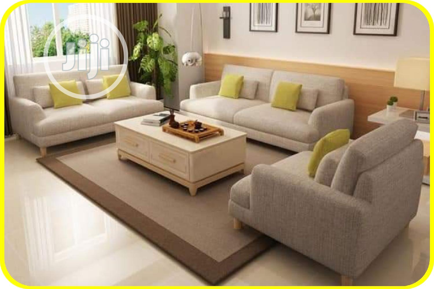 Complete Set Of 7 Seater Sofa With Center Table
