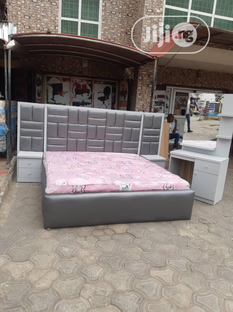 6x6 Upholstery Bedframe With Mattress