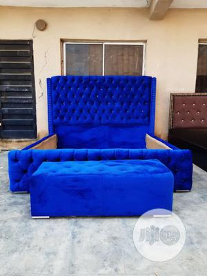 6x6 Upholstery Bedframe With Dressing Mirror | Furniture for sale in Lagos State, Ojo