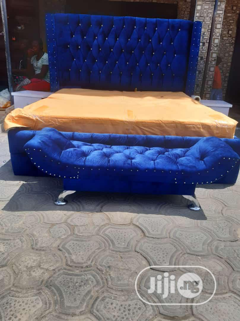 6x6 Upholstery Bedframe Orthopedic Mattress