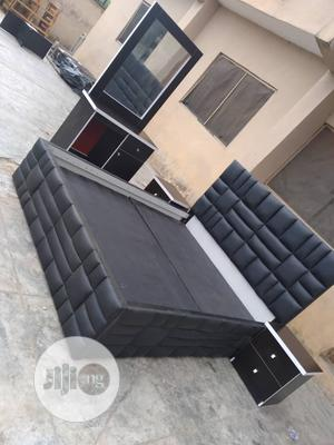 6x6 Upholstery Leather Bedframe | Furniture for sale in Lagos State, Ojo