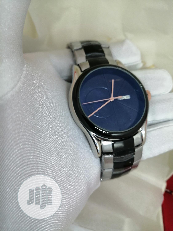 Calvin Klein (CK) Black/Silver Chain Watch